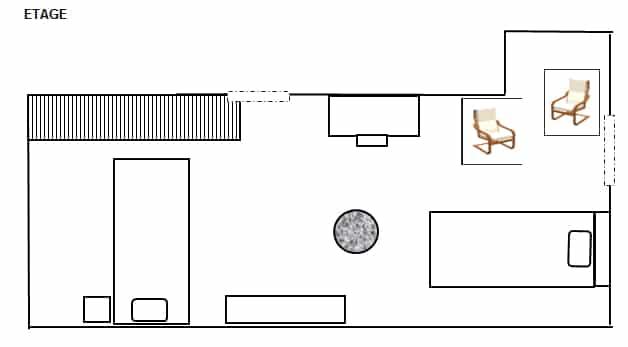 Plan de l'étage du gite