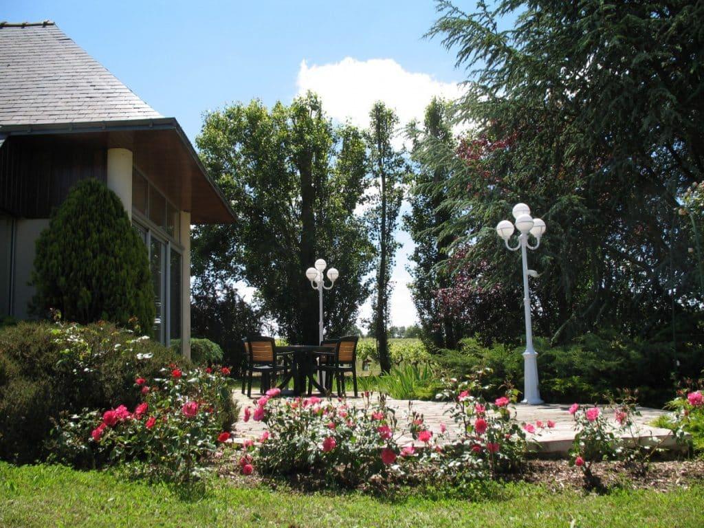 La terrasse du Gîte Anjoué